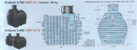 9400L PE-Fäkalientanksystem mit Werkszertifikat